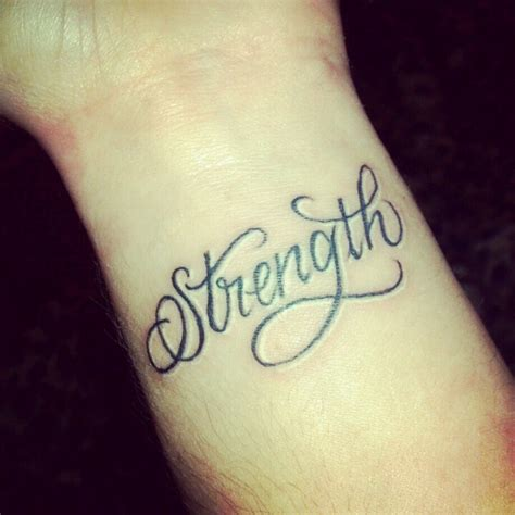 strength tattoo like the script but want it placed on my