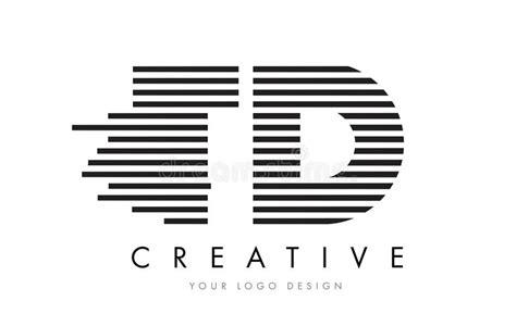 logo black and white stripes td t d zebra letter logo design with black and white stripes stock vector image 90747426