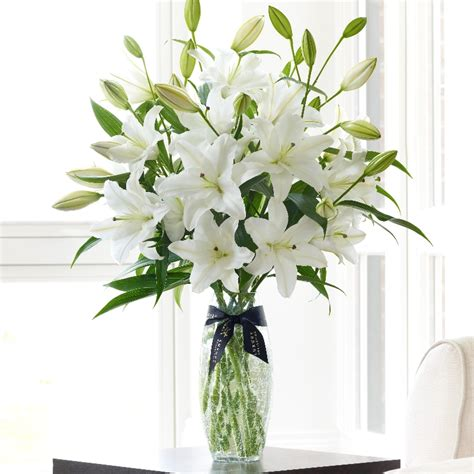 Vase Of Lilies Luxury White Oriental Lily Vase Funky Flowers West