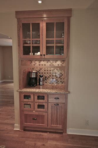 built in coffee bar replace existing closet with coffee station bar in