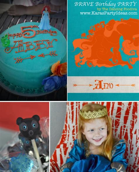 girl themed movies disney birthday cake ideas for girls 23785 brave party ide