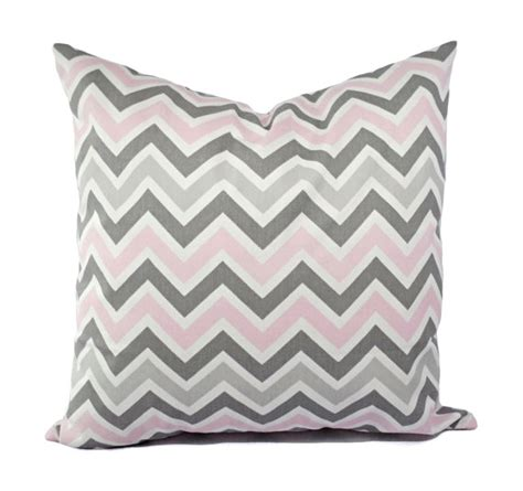 two chevron nursery pillows baby pink grey and white