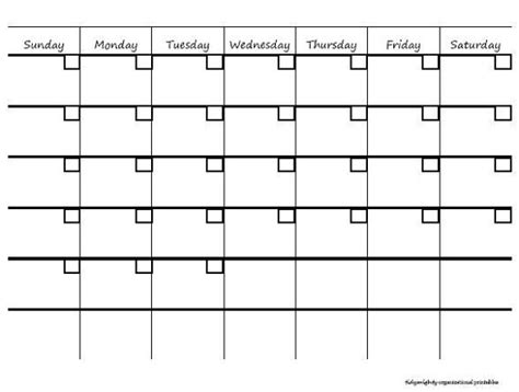 month at a glance calendar template microsoft blank month at a glance calendar search
