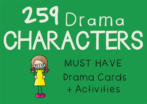 character card template drama drama trunk teaching resources tes