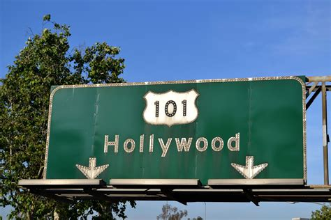 route  hollywood los angeles highway signs hollywood