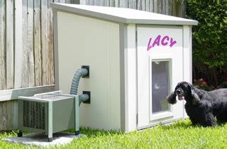 air conditioned and heated dog houses petcool dog house air conditioner gadgetgrid