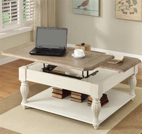Square Lift Top Coffee Table Square Lift Top Coffee Table With Fixed Bottom Shelf By Riverside Furniture Wolf And Gardiner