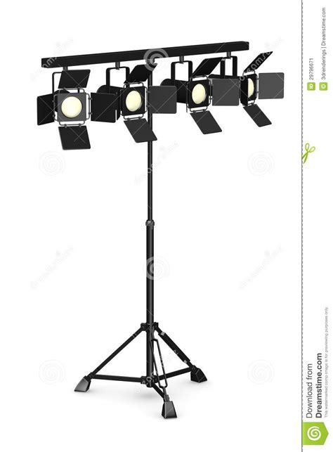 on stage light stands 4 stage lights on stand stock image image 29796671