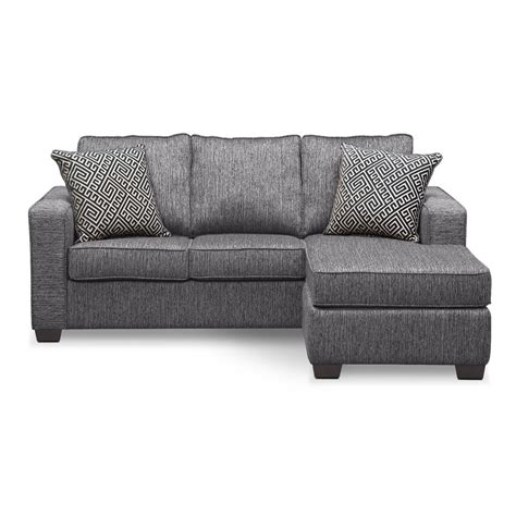 Chaise Sofa Sleeper Sterling Innerspring Sleeper Sofa With Chaise Charcoal Value City Furniture
