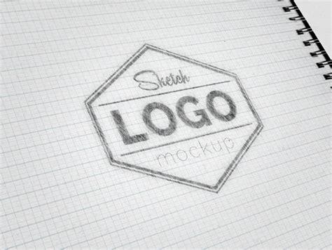 logo sketch sketch logo mockup psd