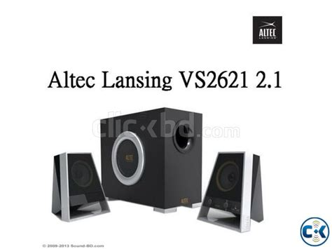 Speaker Altec Lansing Vs2621 Resmi altec lansing vs2621 2 1 ch pc multimedia speaker clickbd
