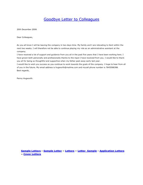 farewell letter to colleagues template goodbye email to coworkers best business template