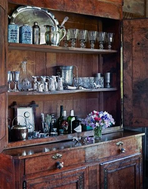 Top Shelf Open Bar by This Home Bar Is Inside An Antique Cabinet Until