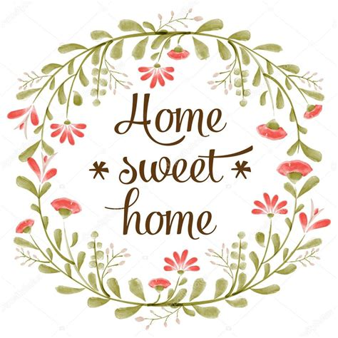 Sweet Home quot home sweet home quot background with delicate watercolor