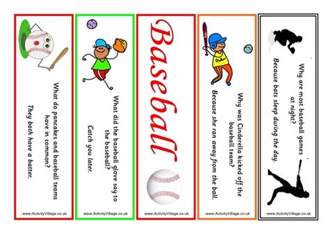 printable baseball bookmarks baseball bookmarks