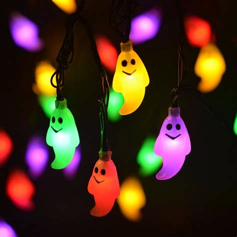 ghost solar string lights outdoor decorations