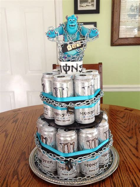 energy drink ideas a cake we made for david s he energy