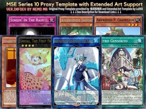 yugioh card proxy template mse tcg series10 proxy like extended infdev by