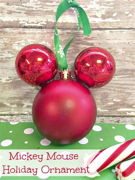 diy mickey mouse christmas decorations 33 handmade ornaments for onecreativemommy