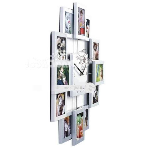 photo collage wall hanging photo collage frame hanging wall clock