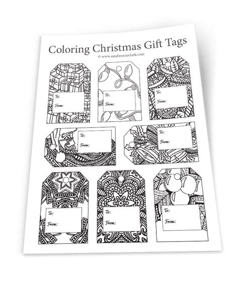 printable holiday gift tags to color diy christmas gift tags templates to color your own gift