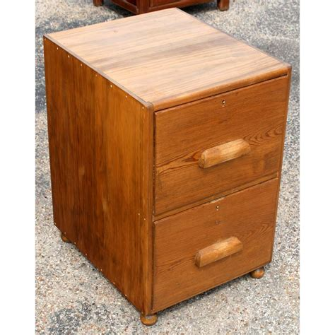 mid century file cabinet mid century two oak filing cabinet