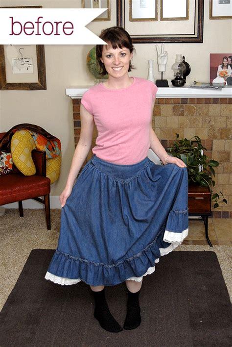 husbands permanantly feminised thrifty chic prairie skirt refashion i still love you