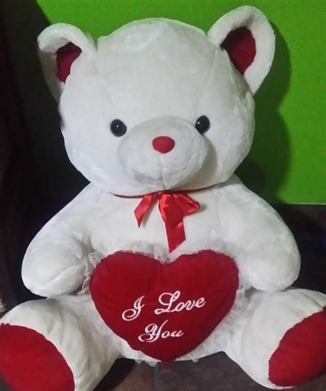 stuffed animals white teddy just in time