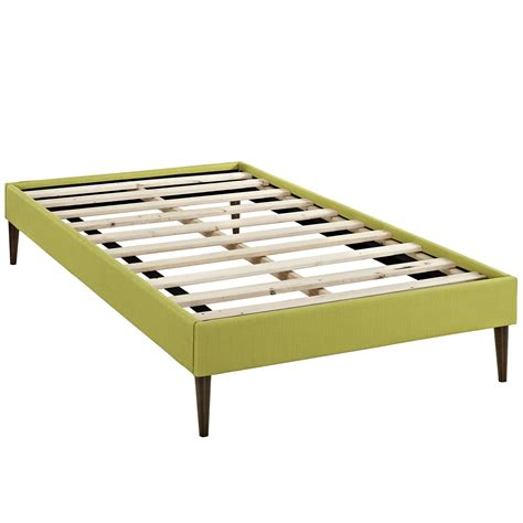 platform bed frame twin sherry upholstered fabric twin platform bed frame wheatgrass