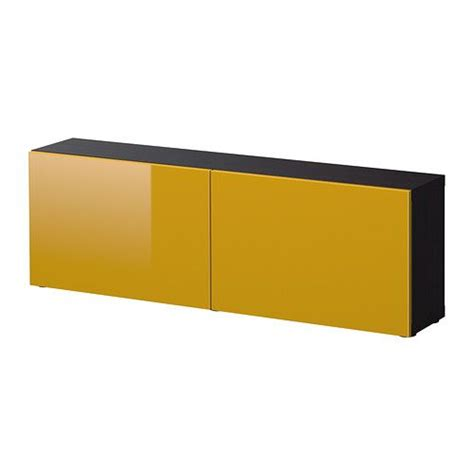 Ikea Besta Burs Yellow by Best 197 Shelf Unit With Doors Black Brown Tofta High Gloss