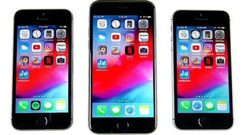 iphone 5s vs iphone 6 vs iphone se ios 12 speed test