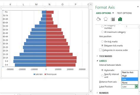 membuat database penduduk dengan excel cara membuat piramida penduduk dengan microsoft excel