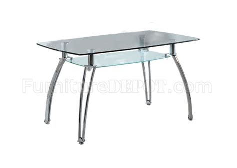 Glass Top Metal Base Modern Dining Table W Frosted Glass Glass Top Metal Base Modern Rectangular Dining Table W Shelf