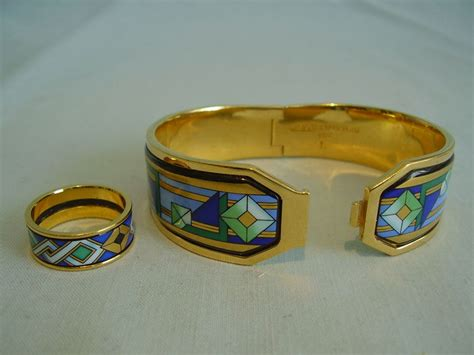 Bracelet et bague femmes en émail Michaela Frey Wien   Catawiki