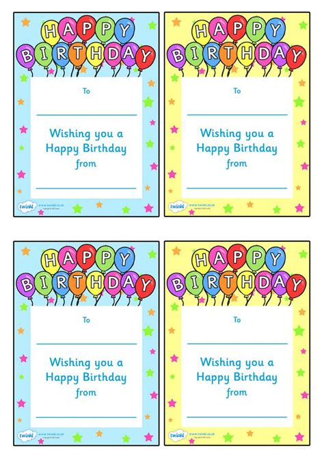 printable birthday cards teacher 54 best images about preschool awards on pinterest candy