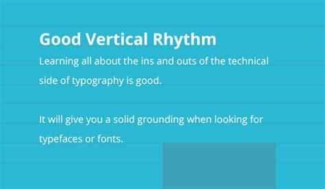 typography vertical rhythm improving layout with vertical rhythm