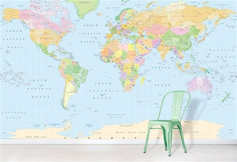 colorful world map colourful world map with antarctica world map wallpaper