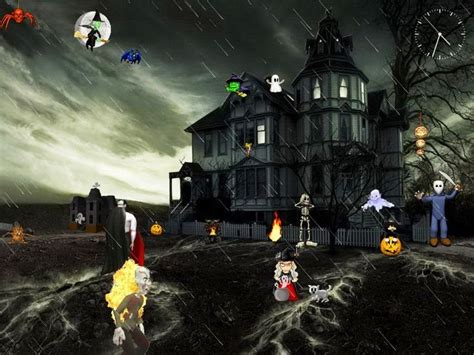 free animated halloween wallpapers for windows 7 24 best halloween screensavers images on pinterest