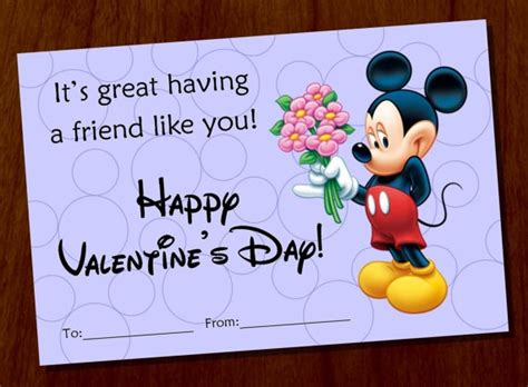 mickey mouse valentines day 4 best images of mickey mouse printable cards