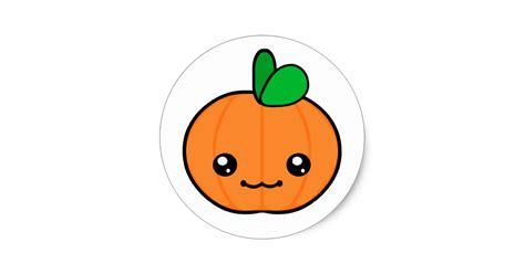 imagenes kawaii de hallowen kawaii pumpkin halloween sticker zazzle com