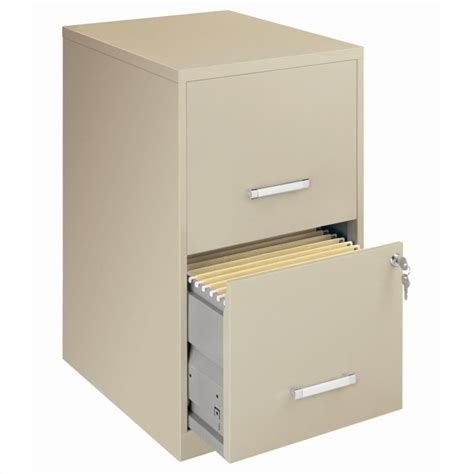 soho 18 quot 2 drawer letter size file cabinet in putty