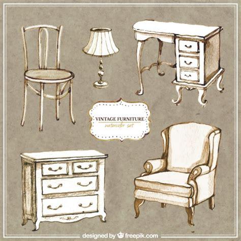 imagenes vintage muebles muebles pintados a mano vintage descargar vectores gratis