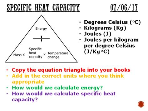 How To Find Specific On Specific Heat Capacity Complete Lesson Ks4 By Matt Nick1in Teaching Resources Tes