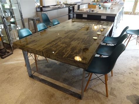 concrete dining room table concrete dining table h h bespoke concrete top tables