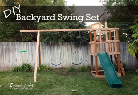 diy backyard swing set everyday art diy wooden swing set