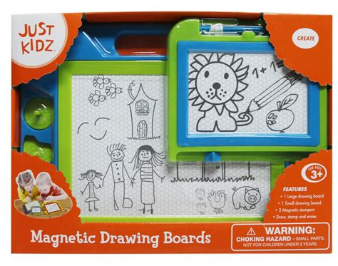 doodle or die drawing board just kidz doodle board 2 pack green blue toys