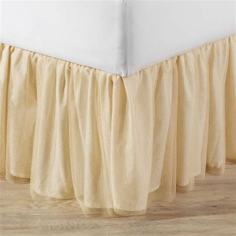 Tutu Bed Skirt Tulle Gold by Gold Tulle Bedskirt Pbteen