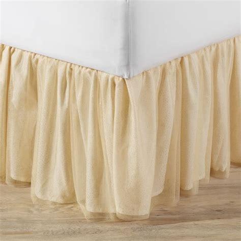 girls bed skirt gold tulle bedskirt pbteen