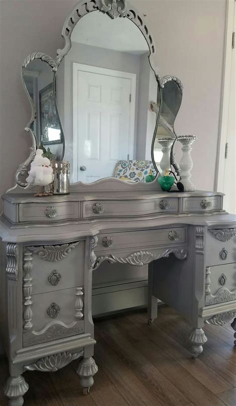 antique bedroom vanity with mirror pretty antique mirror vanity burl walnut 6 drawer with at