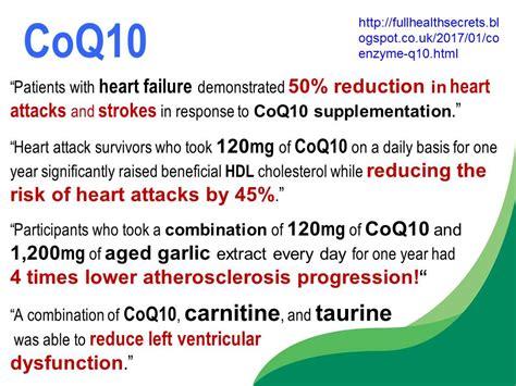 q risk for heart disease amazing health benefits of coenzyme q10 full health secrets